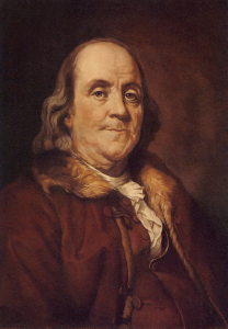 Benjamin Franklin by Joseph Siffred Duplessis (1798)
