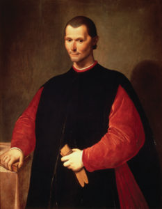 Niccolò Machiavelli, oil painting by Santi di Tito